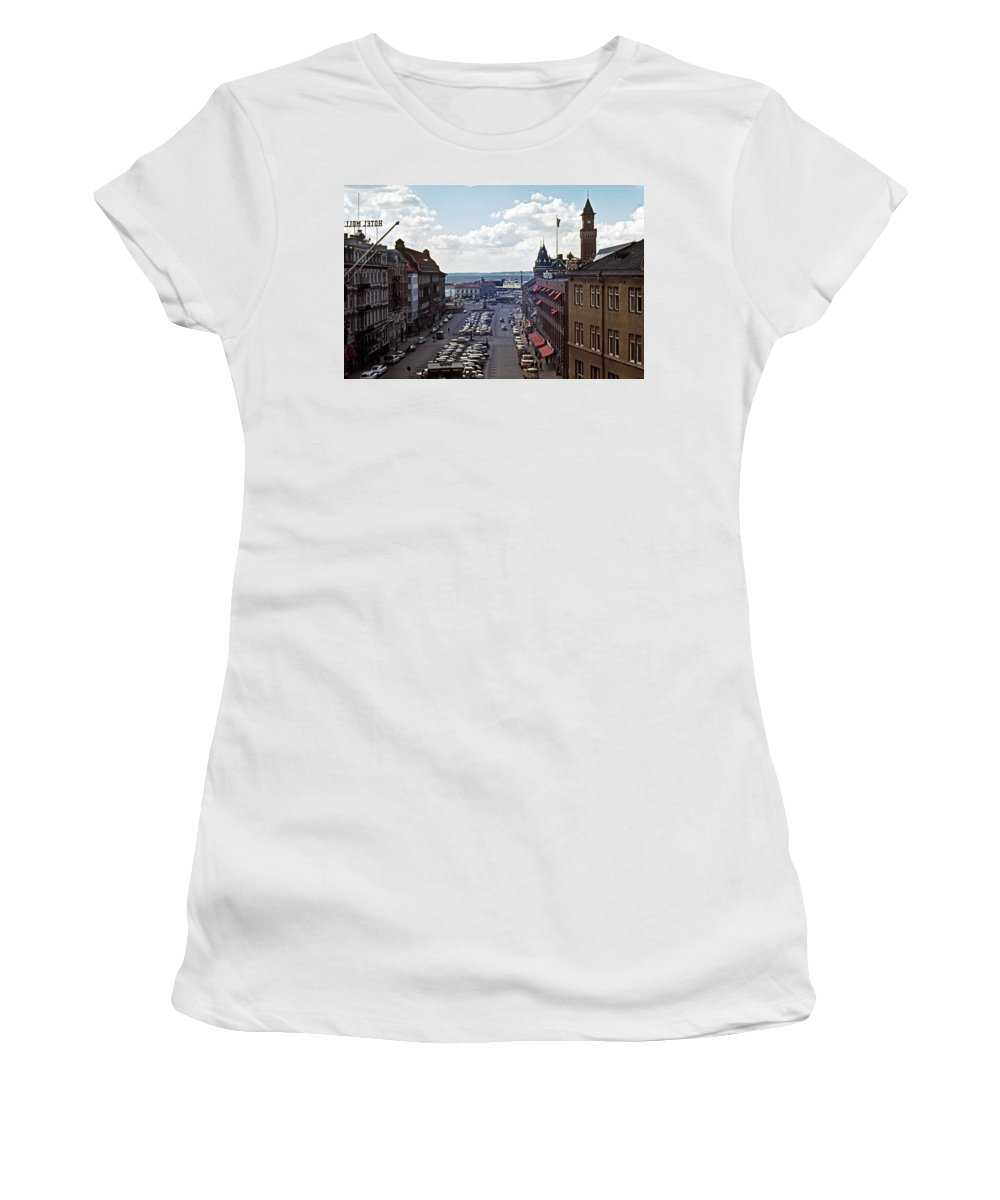 Europe Women's T-Shirt (Athletic Fit) featuring the photograph Halsingborg Sweden 1 by Lee Santa