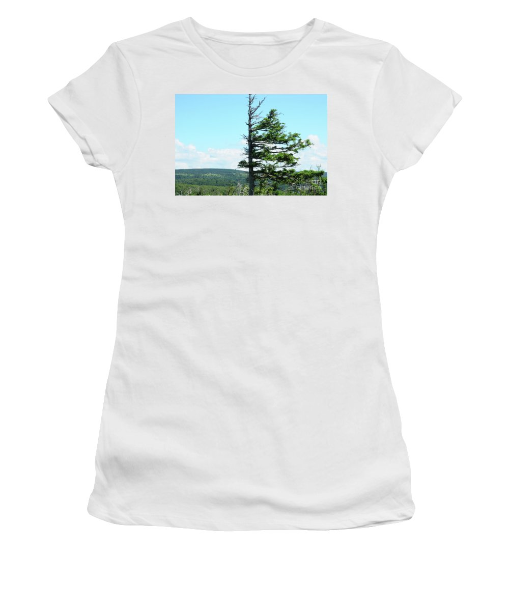 Weathered Tree Women's T-Shirt featuring the photograph Halved Pine by Joe Ng