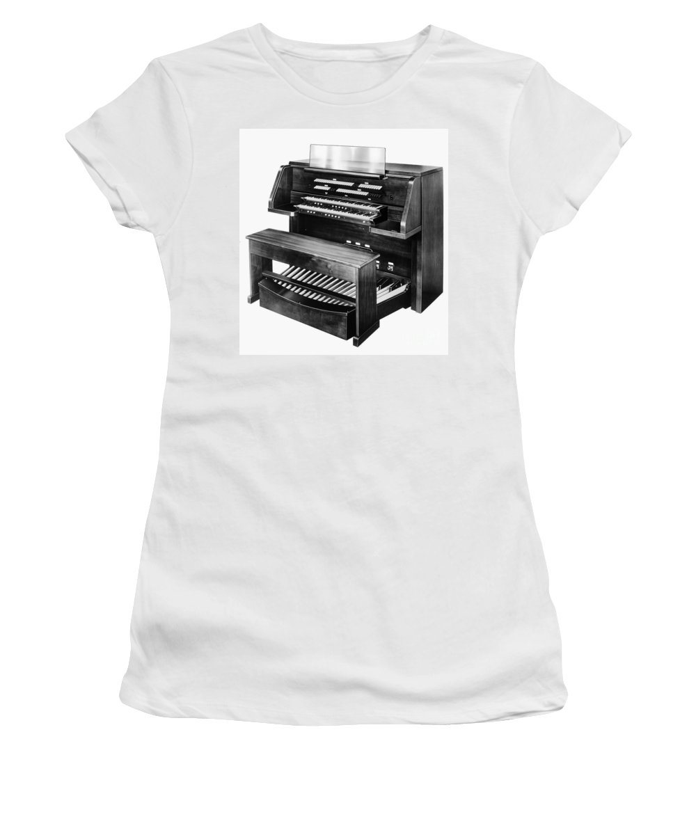 1960s Women's T-Shirt (Athletic Fit) featuring the photograph Hammond Organ 1960s by Granger