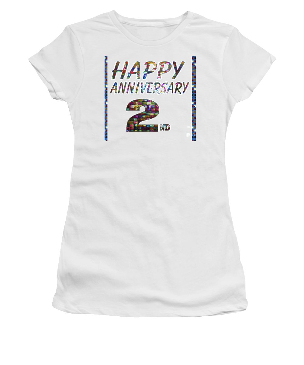 Happy Second 2nd Anniversary Celebrations Design On Greeting Cards T