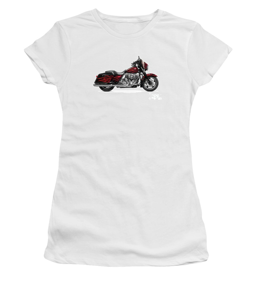 Motorcycle Women's T-Shirt (Athletic Fit) featuring the photograph Harley-davidson Street Glide Motorcycle by Oleksiy Maksymenko