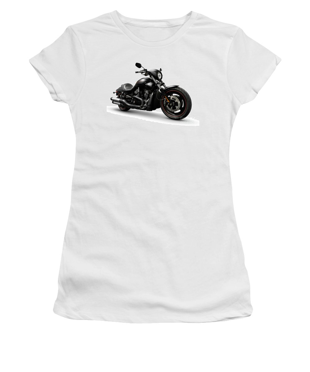 Harley Women's T-Shirt (Athletic Fit) featuring the photograph Harley Davidson Vrscd Night Rod Special by Oleksiy Maksymenko