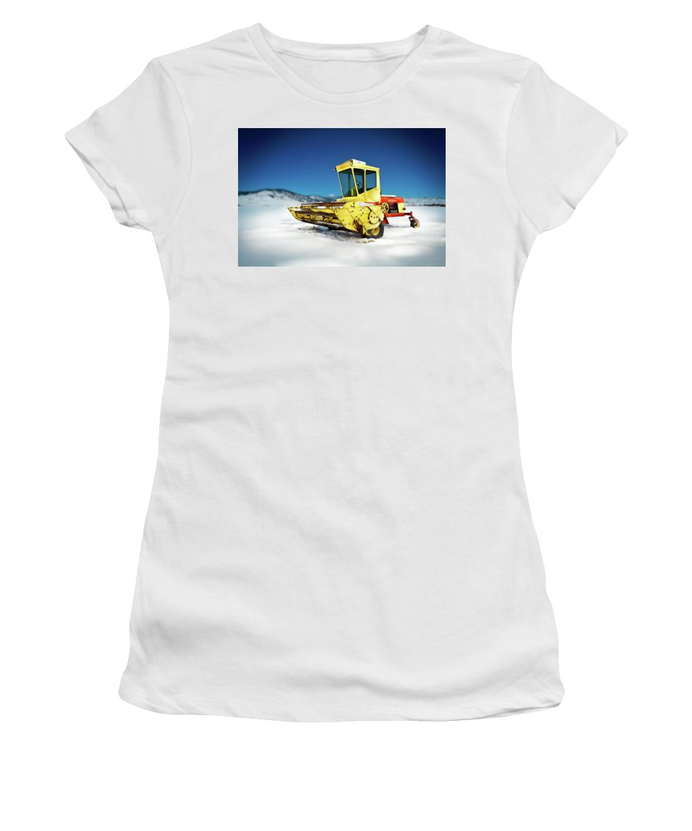 Painted Women's T-Shirt (Athletic Fit) featuring the photograph Harvester by Yo Pedro