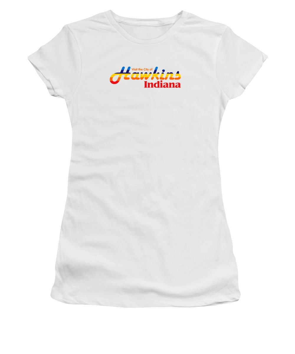 Hawkins Badge Women's T-Shirt (Athletic Fit) featuring the digital art Hawkins Badge by Dominic Fransisce