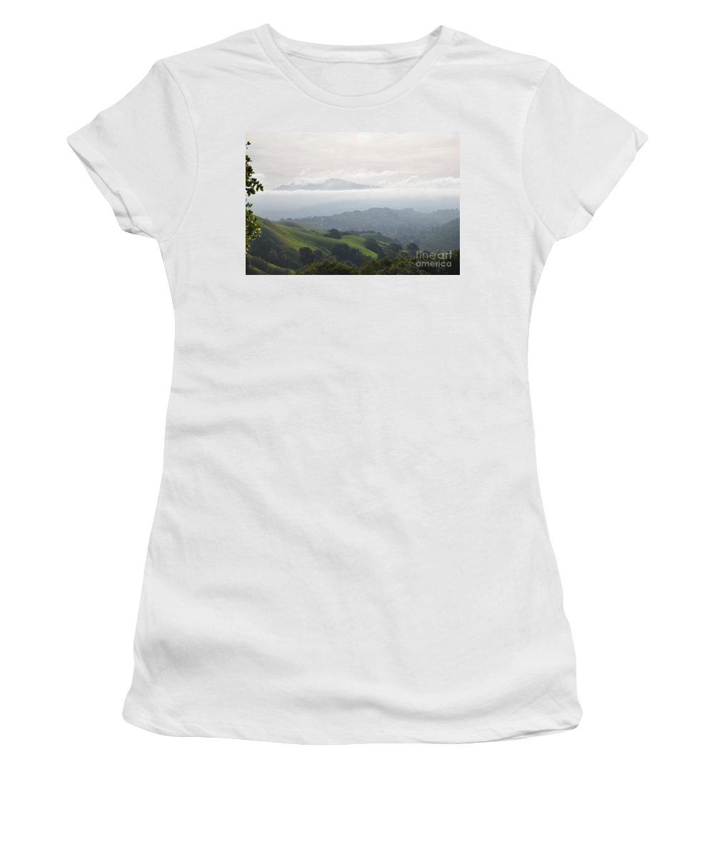 Landscape Women's T-Shirt (Athletic Fit) featuring the photograph Haze by Suzanne Leonard
