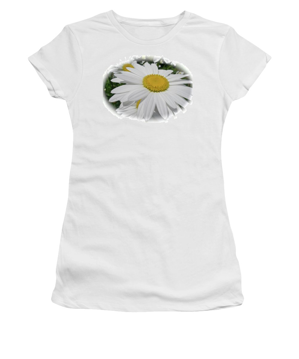 Oxeye Women's T-Shirt (Athletic Fit) featuring the photograph He Loves Me - He Loves Me Not by Mother Nature