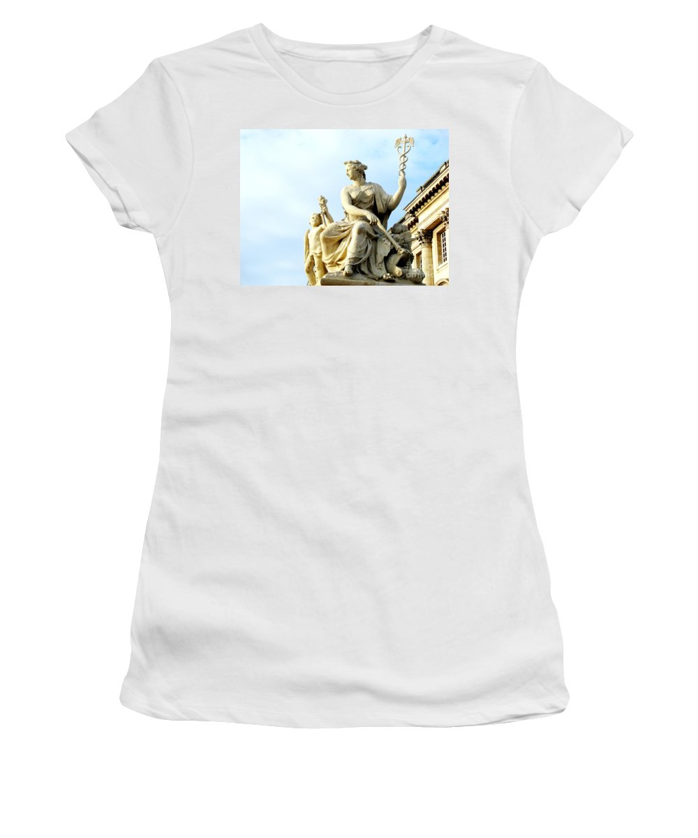 Statues Women's T-Shirt featuring the photograph Healing by Amanda Barcon