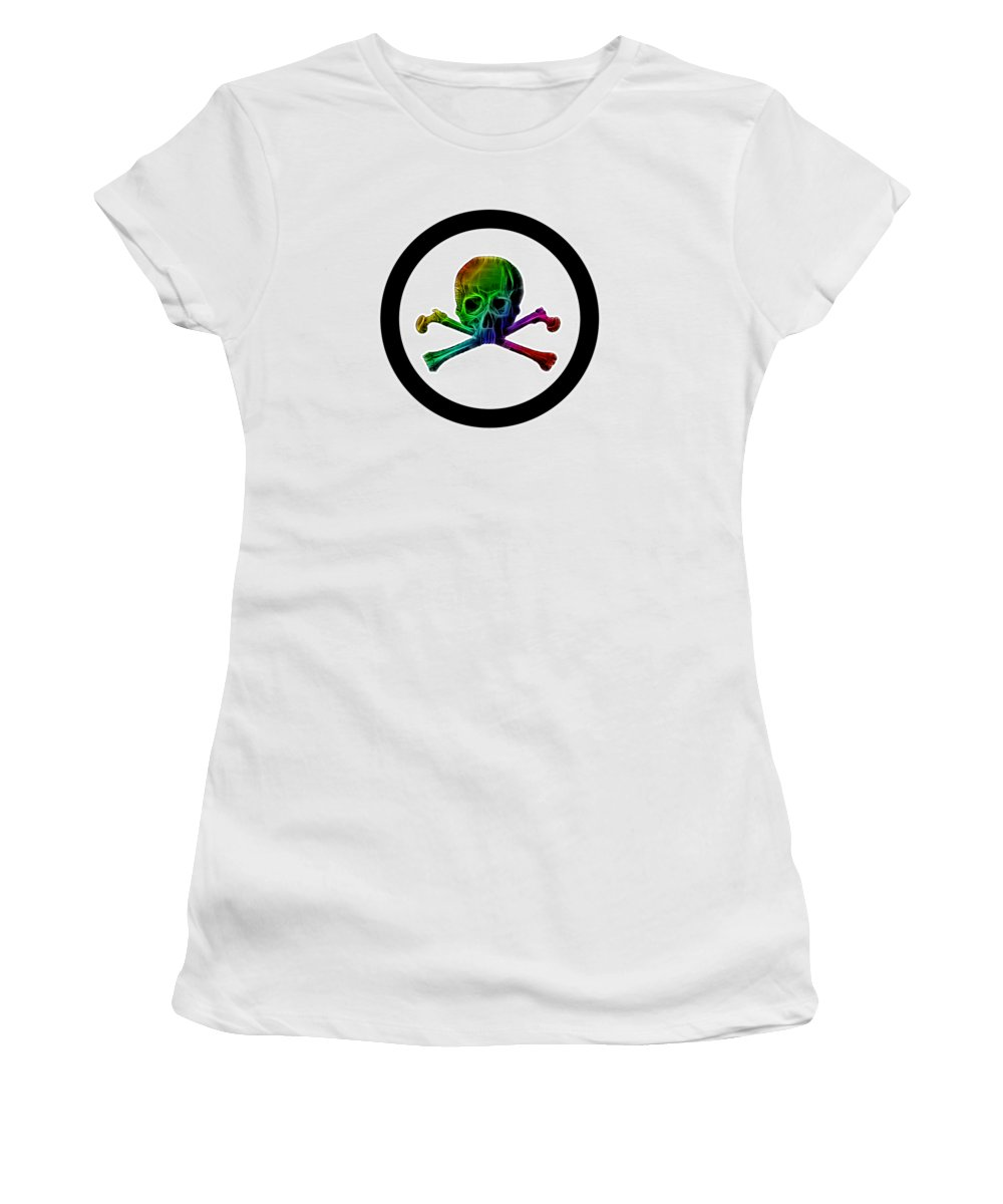 Spectrum Women's T-Shirt (Athletic Fit) featuring the digital art Health Hazard by Shane Towler