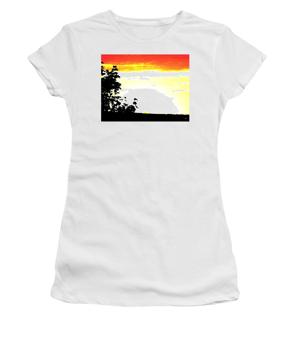 Heat Wave Women's T-Shirt (Athletic Fit) featuring the digital art Heat Wave by Will Borden