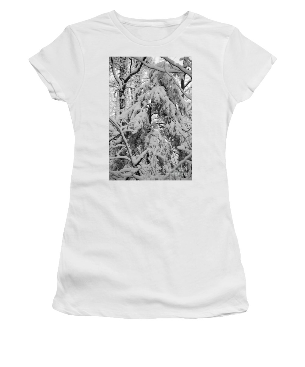 Snow Women's T-Shirt (Athletic Fit) featuring the photograph Heavy Burden by Eric Liller