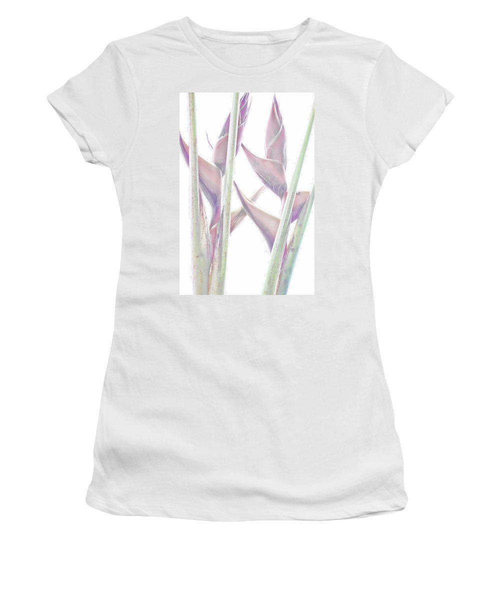 Heliconia Women's T-Shirt (Athletic Fit) featuring the photograph Heliconia Series - Image 1 by Monte Arnold
