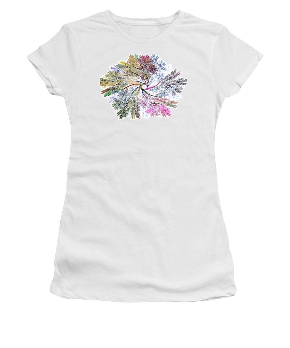 Fine Art Women's T-Shirt featuring the digital art Here There Be Dragons by David Lane