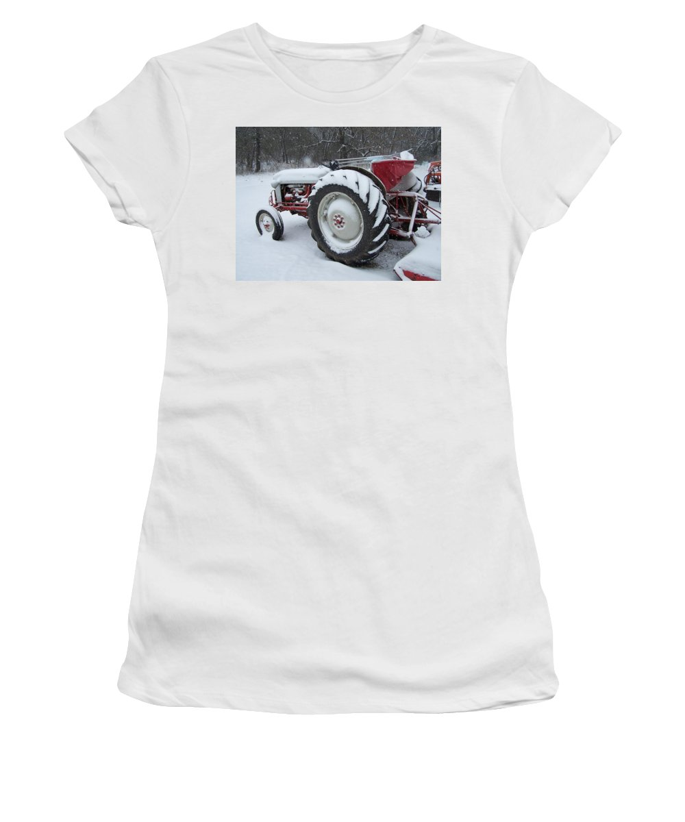 Tractor Women's T-Shirt (Athletic Fit) featuring the photograph Herman by Gale Cochran-Smith