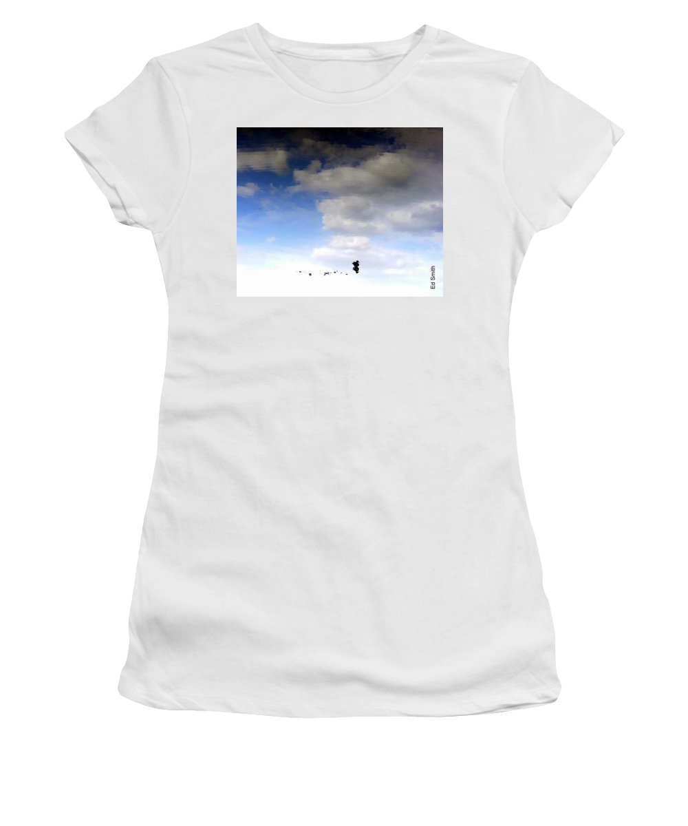 Hey Is This Heaven Women's T-Shirt (Athletic Fit) featuring the photograph Hey Is This Heaven by Ed Smith