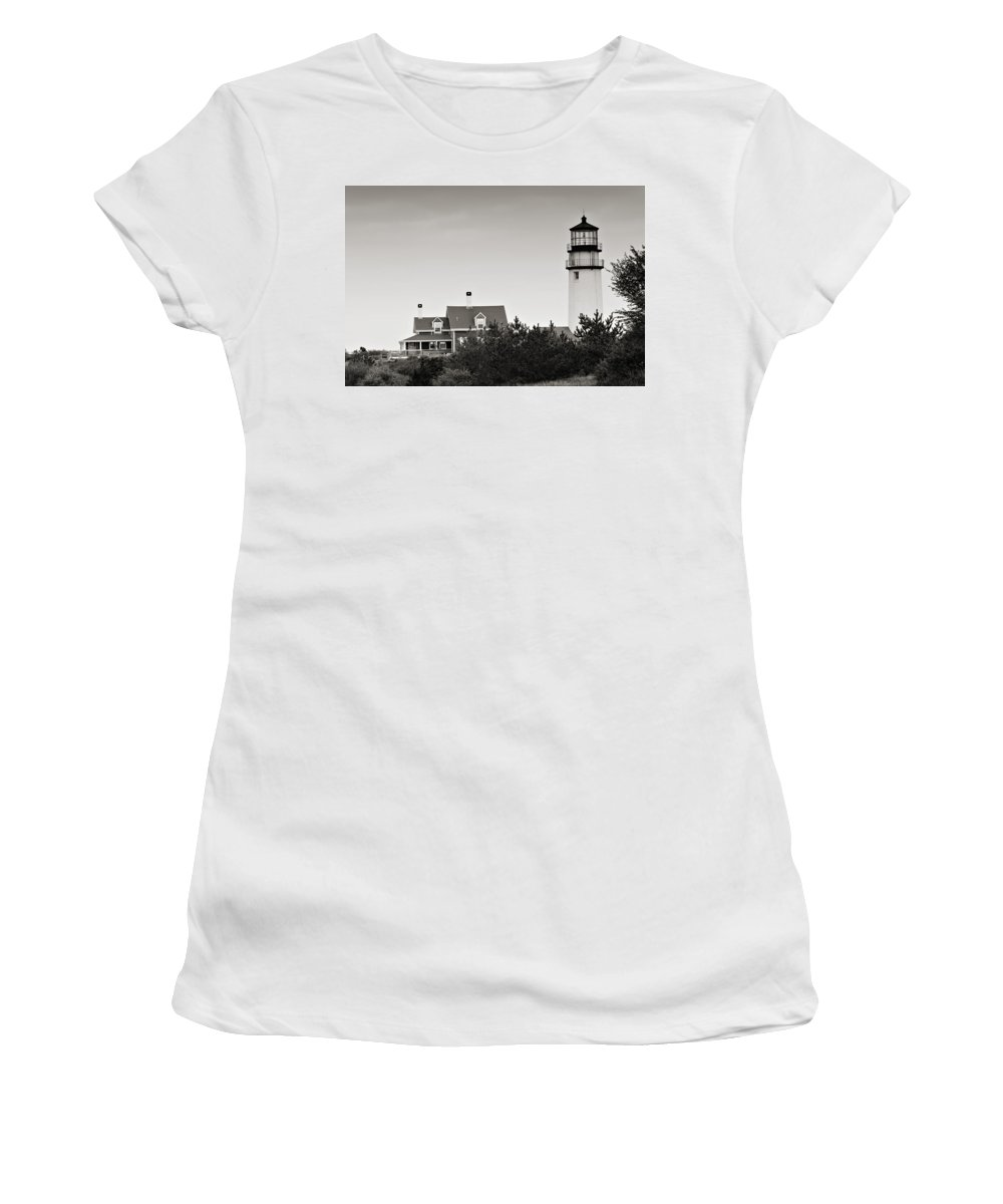 Lighthouse Women's T-Shirt (Athletic Fit) featuring the photograph Highland Light At Cape Cod by Renee Hong