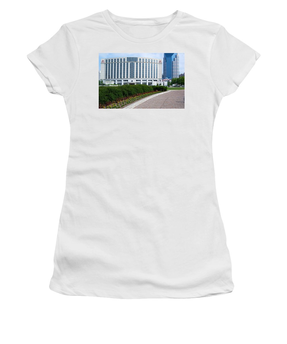 Hilton Nashville Tennessee Women's T-Shirt (Athletic Fit) featuring the photograph Hilton Nashville Tennessee by Bob Pardue
