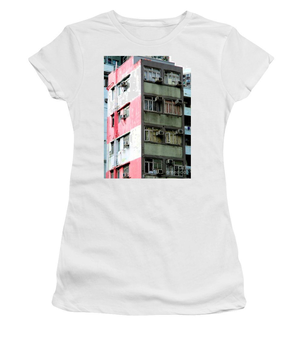 Hong Kong Women's T-Shirt (Athletic Fit) featuring the photograph Hong Kong Apartment 3 by Randall Weidner