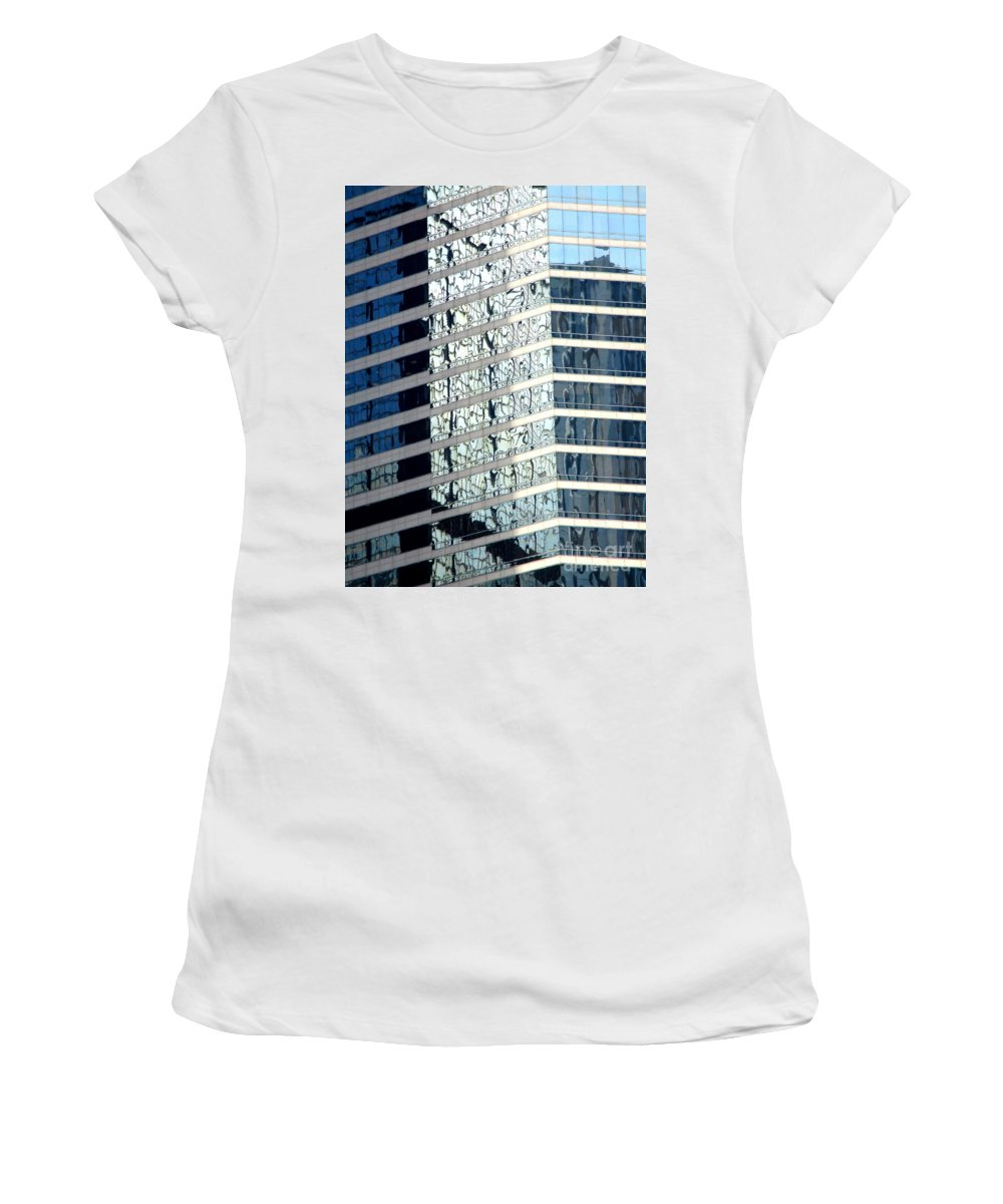 Hong Kong Women's T-Shirt (Athletic Fit) featuring the photograph Hong Kong Architecture 64 by Randall Weidner