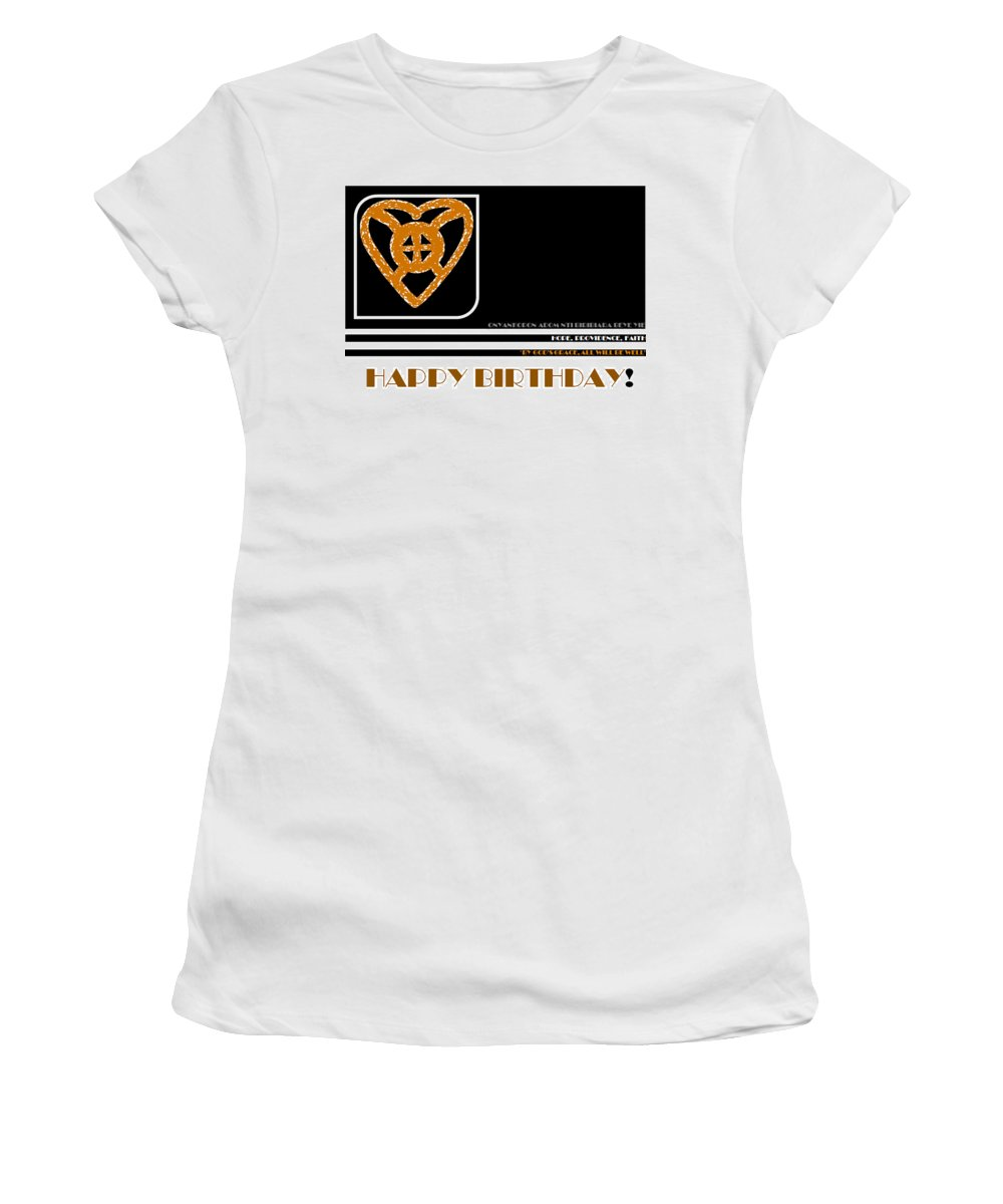 African Symbol Women's T-Shirt (Athletic Fit) featuring the digital art Hope by Antonia Pascoal