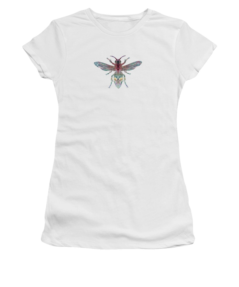 Hornet Women's T-Shirt (Athletic Fit) featuring the painting Hornet by Steph J Marten