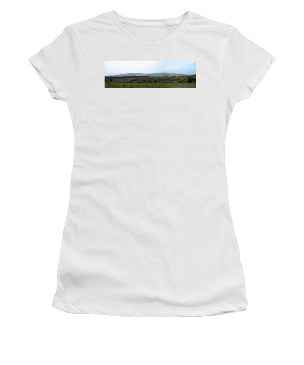 Ireland Women's T-Shirt (Athletic Fit) featuring the photograph Horses At Lough Arrow County Sligo Ireland by Teresa Mucha