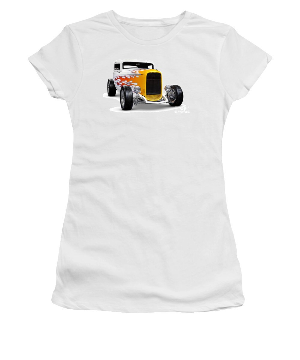 Hot Rod Women's T-Shirt featuring the photograph Hot Rod Ford Hi-boy Coupe 1932 by Oleksiy Maksymenko