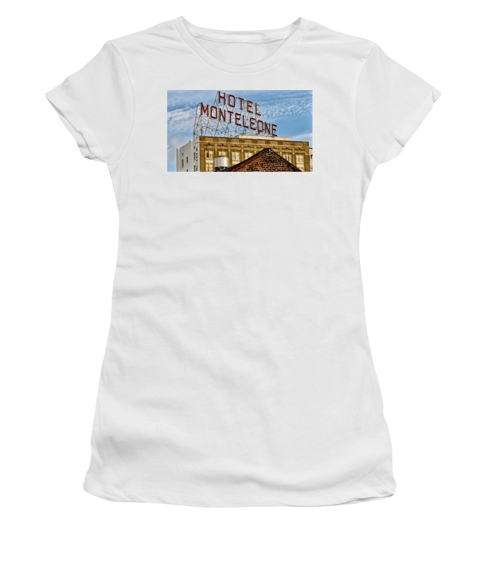 Hotel Monteleone - New Orleans Women's T-Shirt (Athletic Fit) featuring the photograph Hotel Monteleone - New Orleans by Bill Cannon
