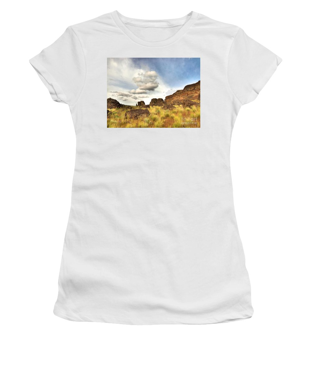 Clouds Women's T-Shirt featuring the photograph Hovering by Tara Turner