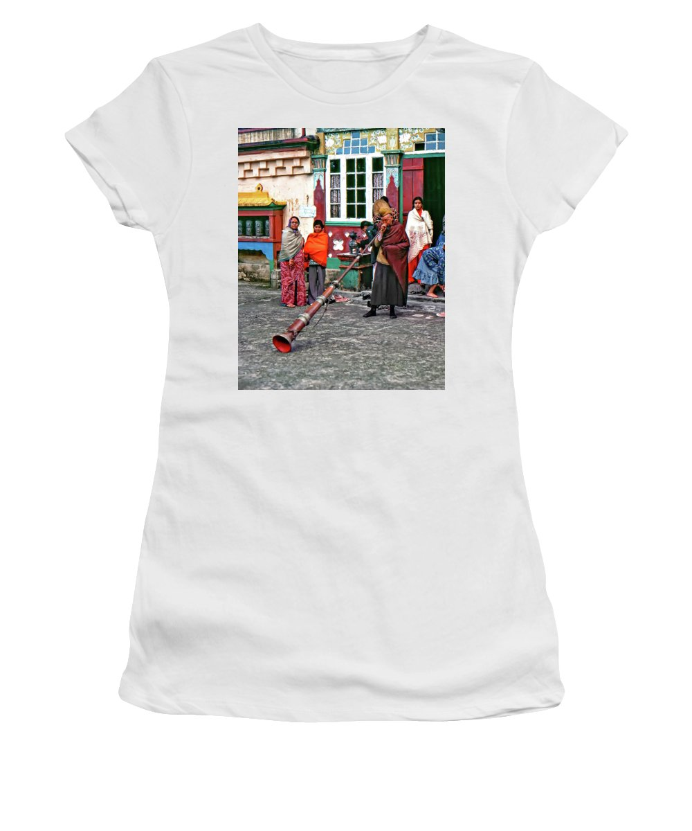 Ghoom Monastery Women's T-Shirt featuring the photograph Huff And Puff by Steve Harrington