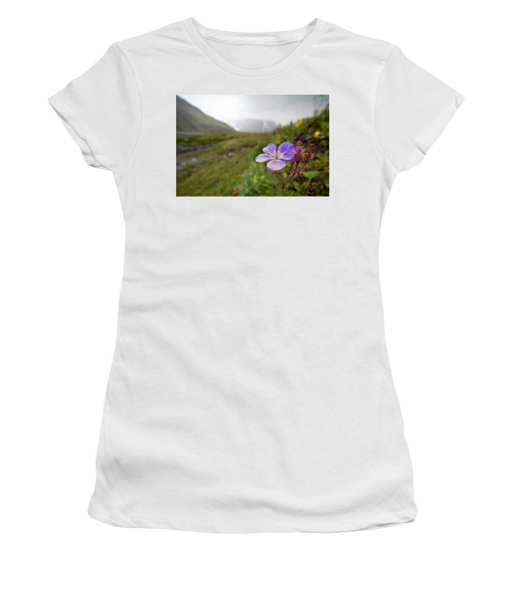 Iceland Women's T-Shirt (Athletic Fit) featuring the photograph Iceland 35 by Valeriy Shvetsov