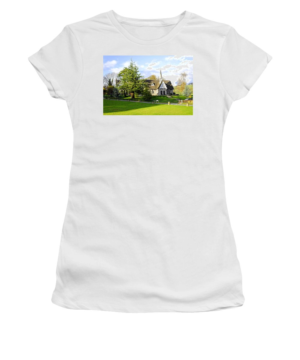 Europe Women's T-Shirt featuring the photograph Ilam Primary School by Rod Johnson