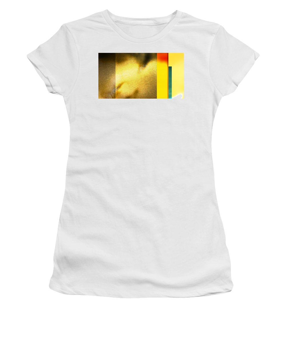 Yellow Women's T-Shirt (Athletic Fit) featuring the digital art Imagination by Are Lund