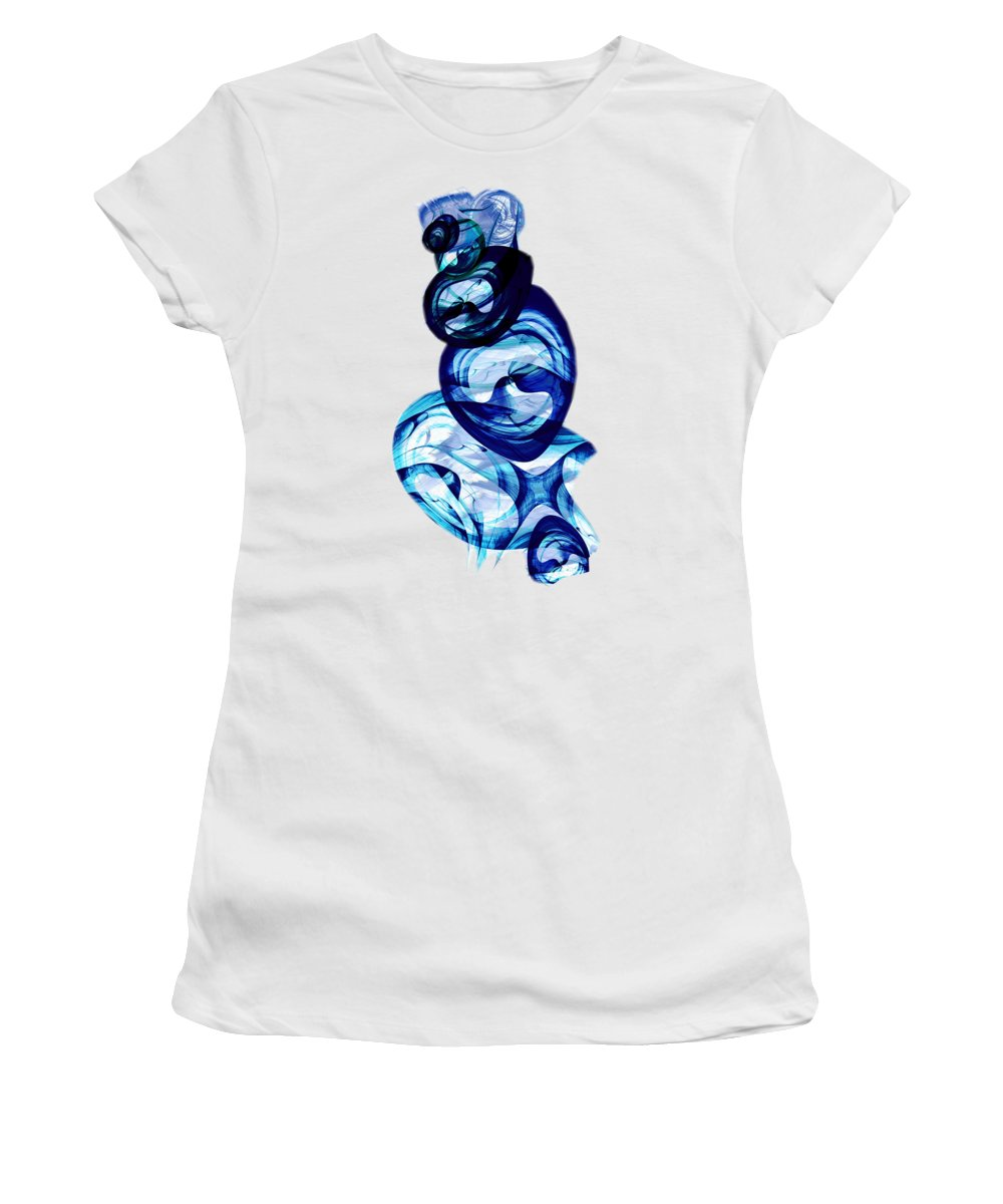 Abstract People Mixed Media Women's T-Shirts