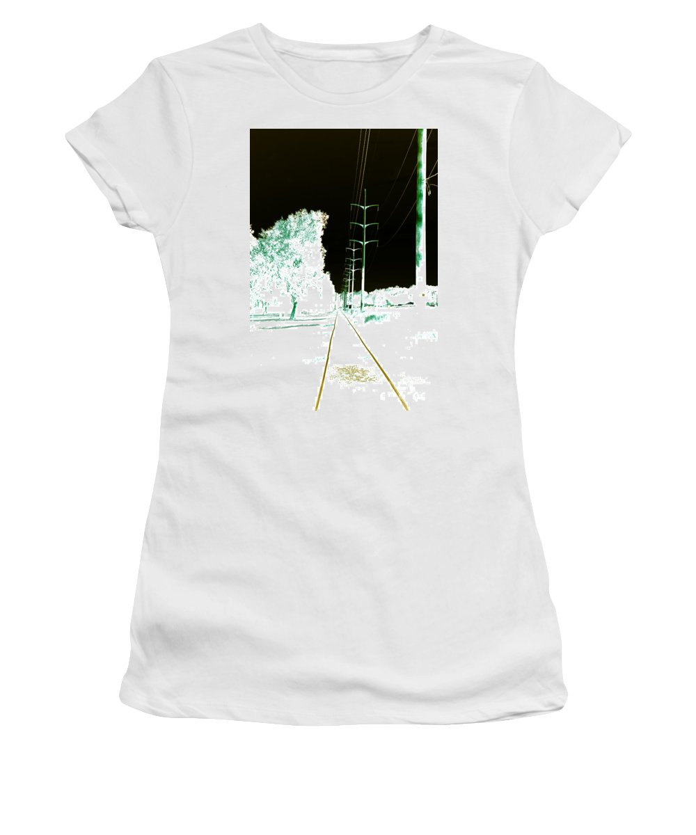 Women's T-Shirt (Athletic Fit) featuring the photograph In Line by Jamie Lynn