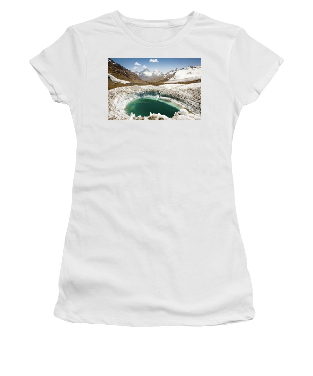 Art Women's T-Shirt (Athletic Fit) featuring the photograph In The Depth Of Pamir by Konstantin Dikovsky
