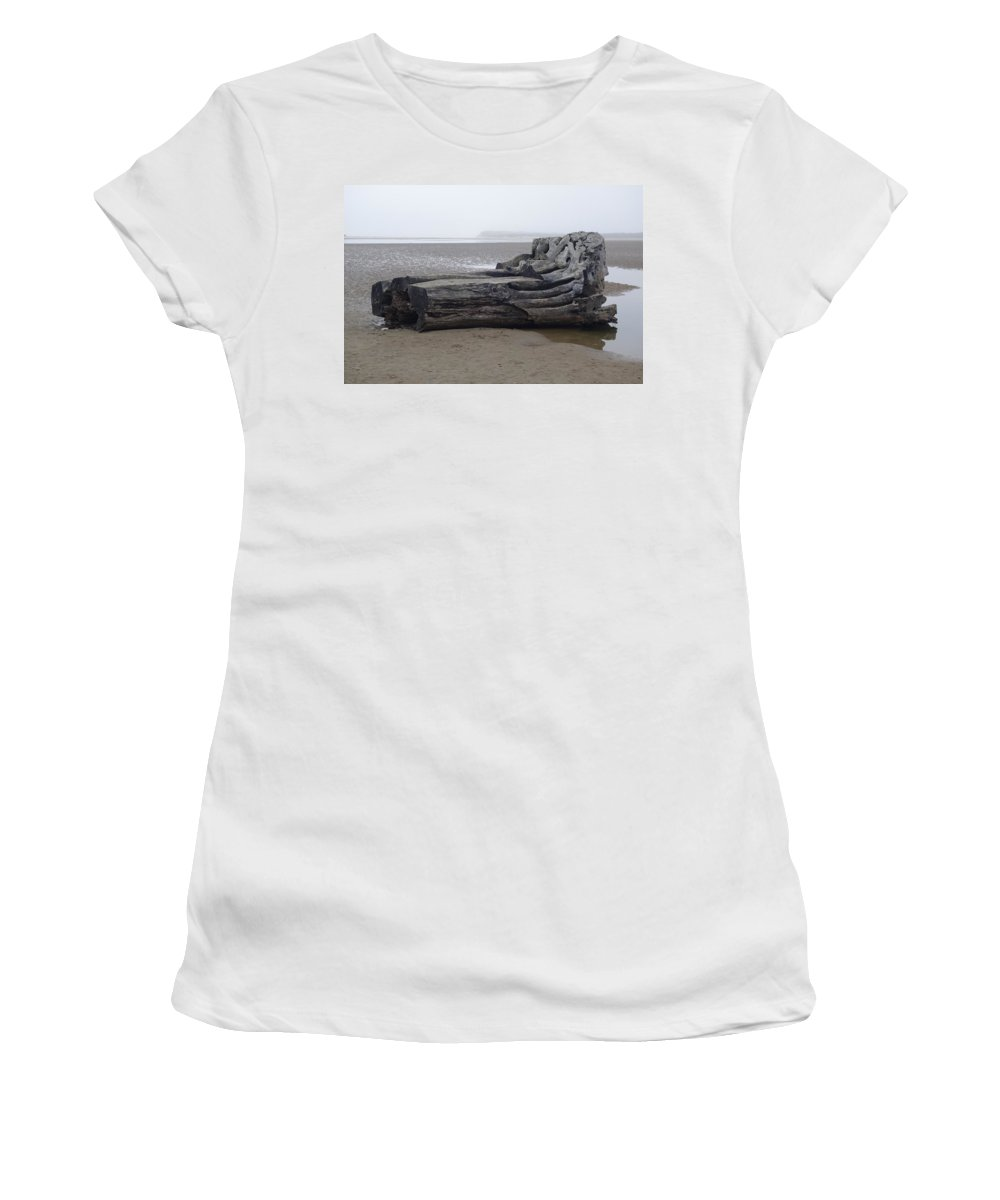 Sand Lake Beach Women's T-Shirt (Athletic Fit) featuring the photograph In With The Tides by Michael Selker