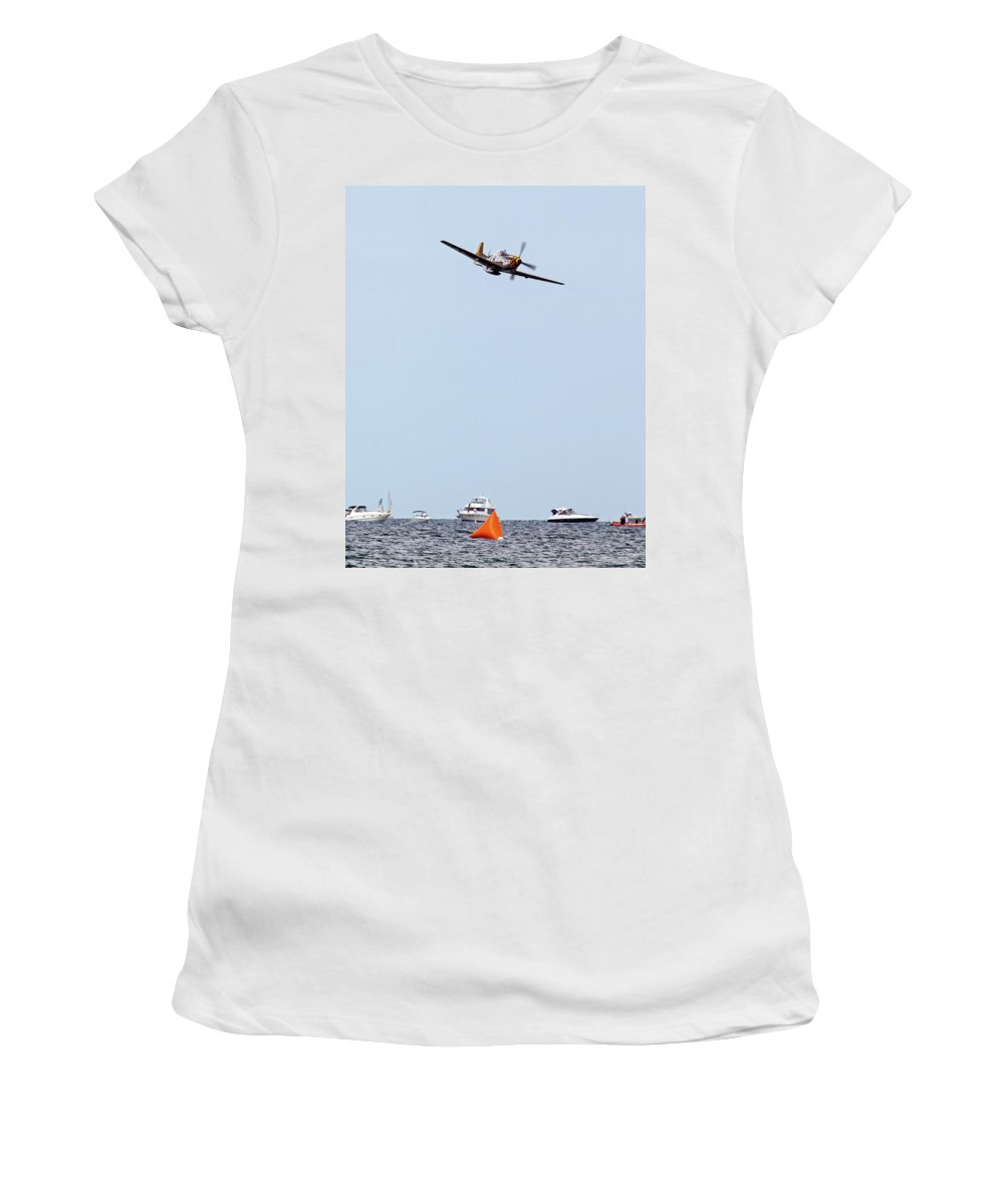 Aerobatic Women's T-Shirt (Athletic Fit) featuring the photograph Inbound by Rick Selin