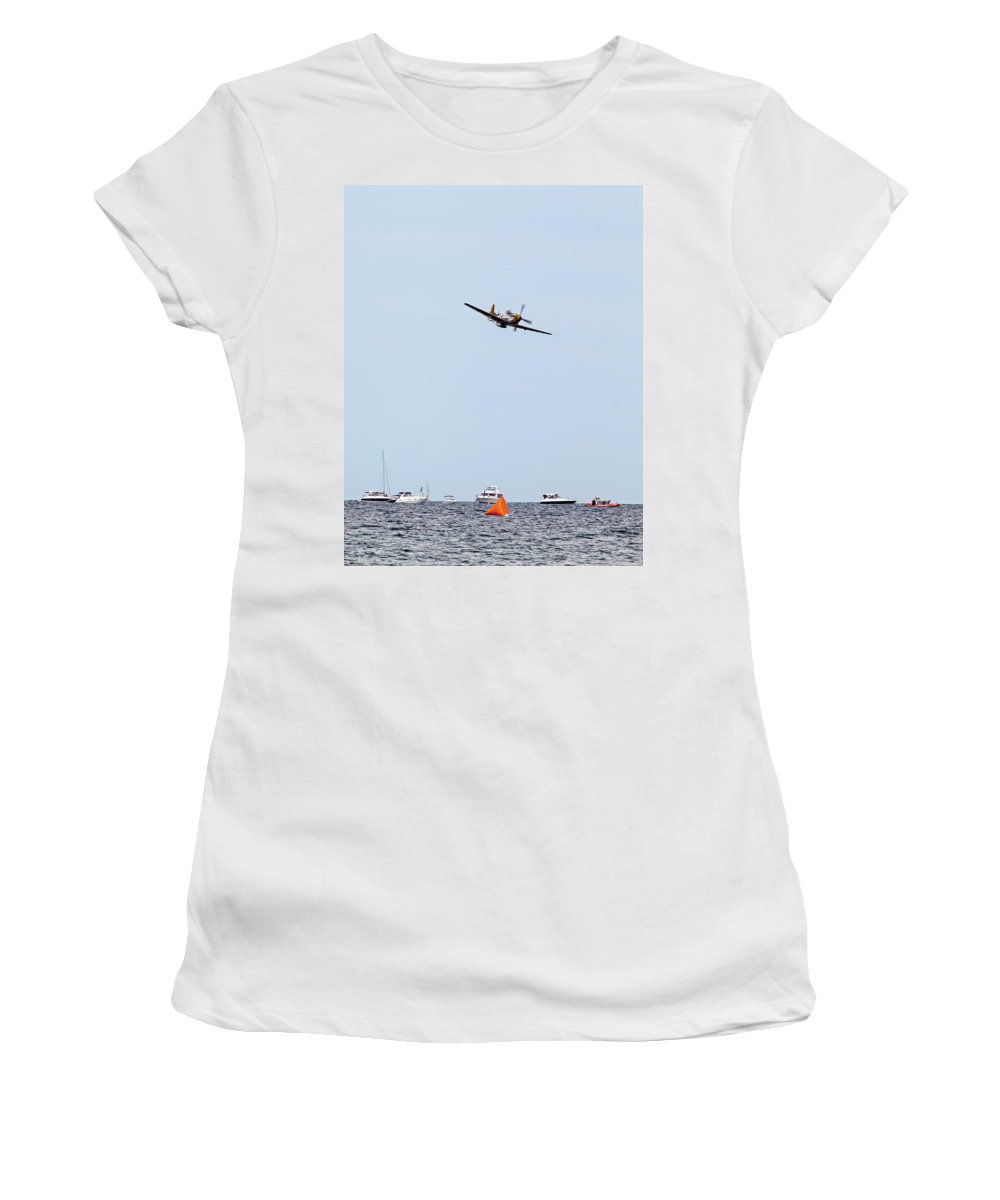 Aerobatic Women's T-Shirt (Athletic Fit) featuring the photograph Inbound Twice by Rick Selin