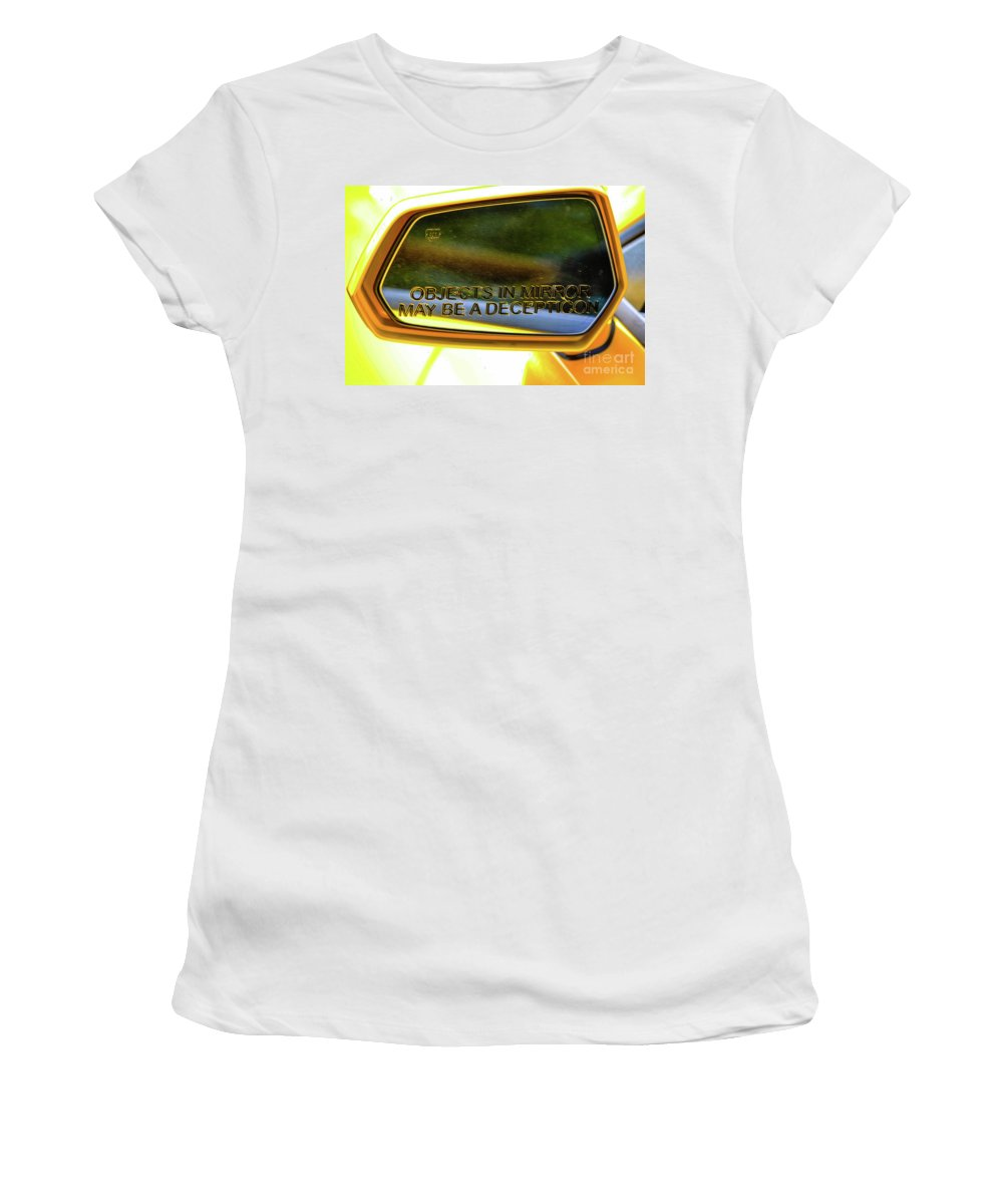 Camaro Women's T-Shirt (Athletic Fit) featuring the photograph Incepticons May Be Closer by Tommy Anderson