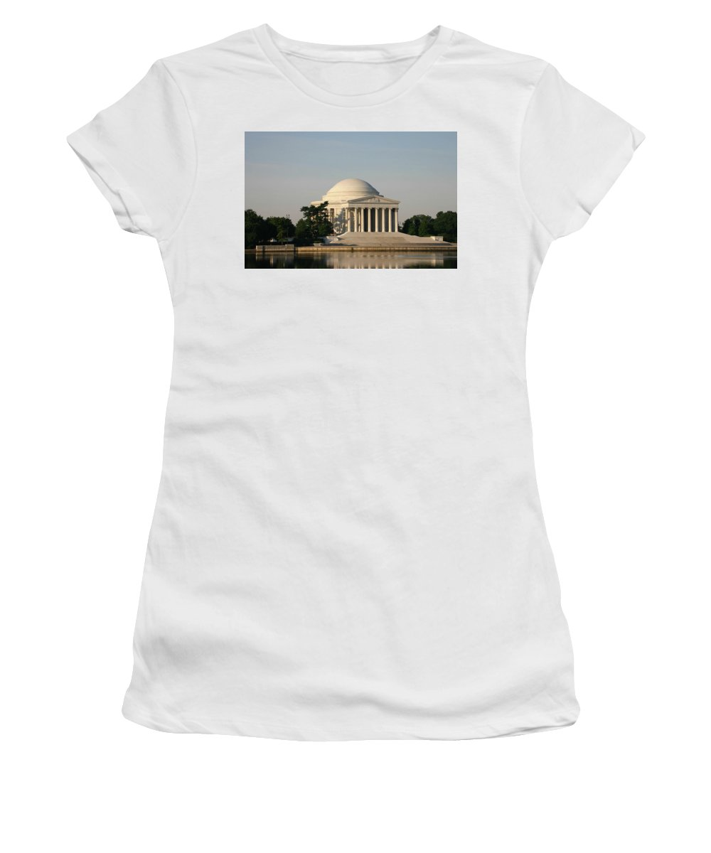 Women's T-Shirt (Athletic Fit) featuring the photograph Jefferson Memorial by Darren Edwards