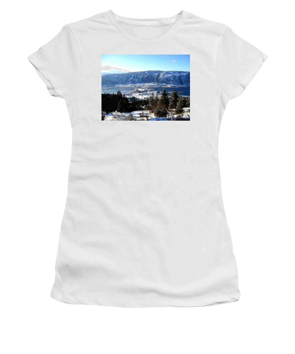 Oyama Women's T-Shirt featuring the photograph Jewel Of The Okanagan by Will Borden