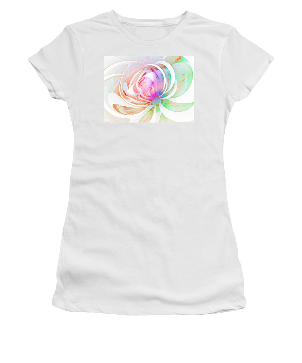 Digital Art Women's T-Shirt (Athletic Fit) featuring the digital art Joy by Amanda Moore