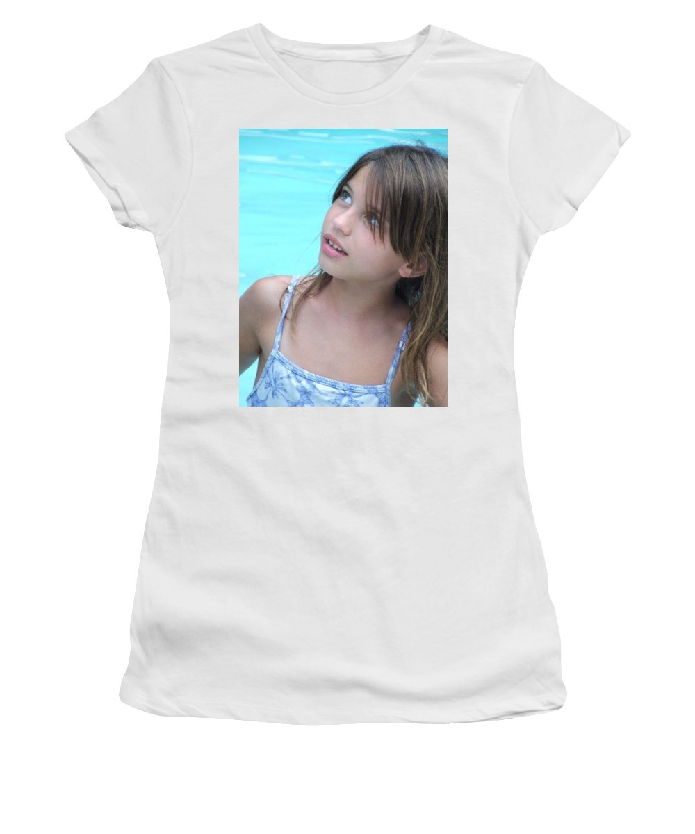 Women's T-Shirt (Athletic Fit) featuring the photograph Julz by Michelle S White