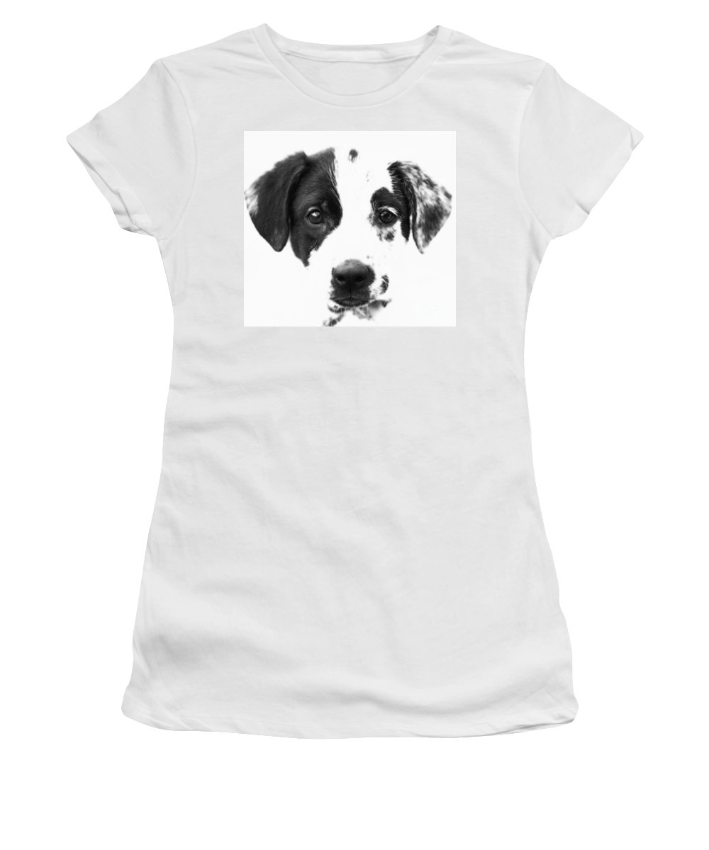 Dogs Women's T-Shirt featuring the photograph Karma by Amanda Barcon