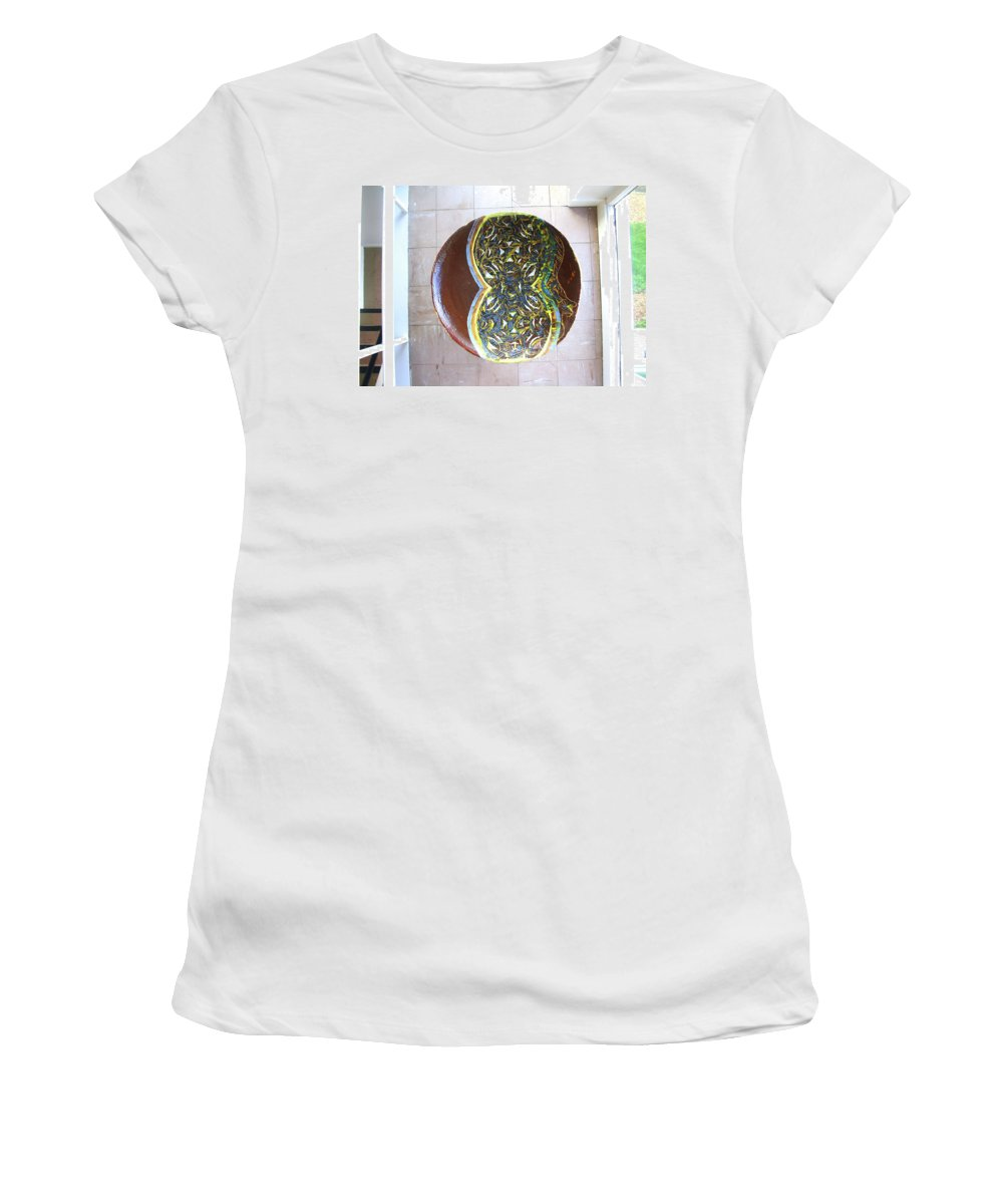 Mama Africa Twojesus Women's T-Shirt (Athletic Fit) featuring the ceramic art Keepsake View 2 by Gloria Ssali