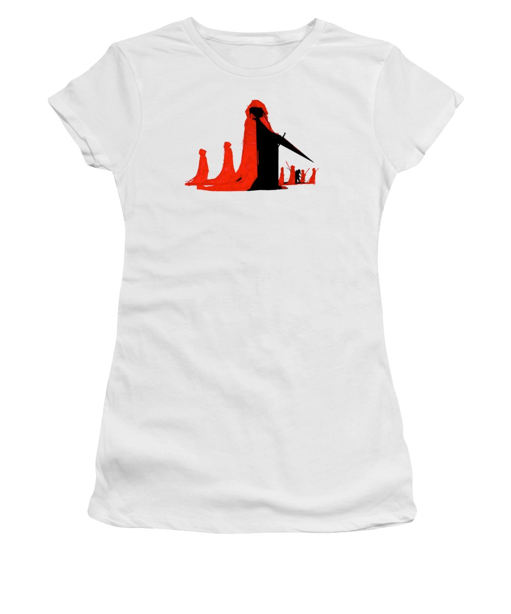 Knight Women's T-Shirt featuring the drawing Knight by Zak Smith