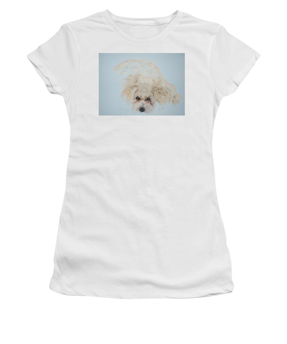Dog Women's T-Shirt (Athletic Fit) featuring the drawing Kuku by Cori Solomon