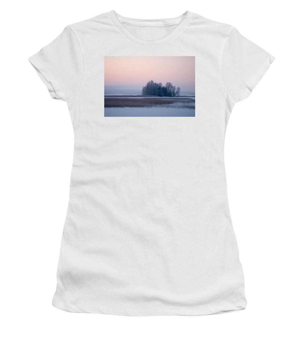 Lehtokukka Women's T-Shirt (Athletic Fit) featuring the photograph Kulovesi 4 by Jouko Lehto