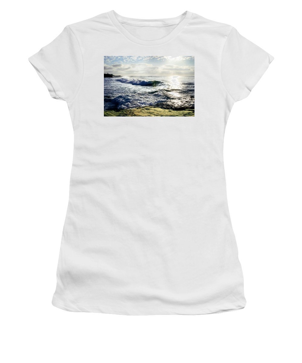 Beach Women's T-Shirt (Athletic Fit) featuring the photograph La Jolla Towards Casa Cove by Anthony Jones