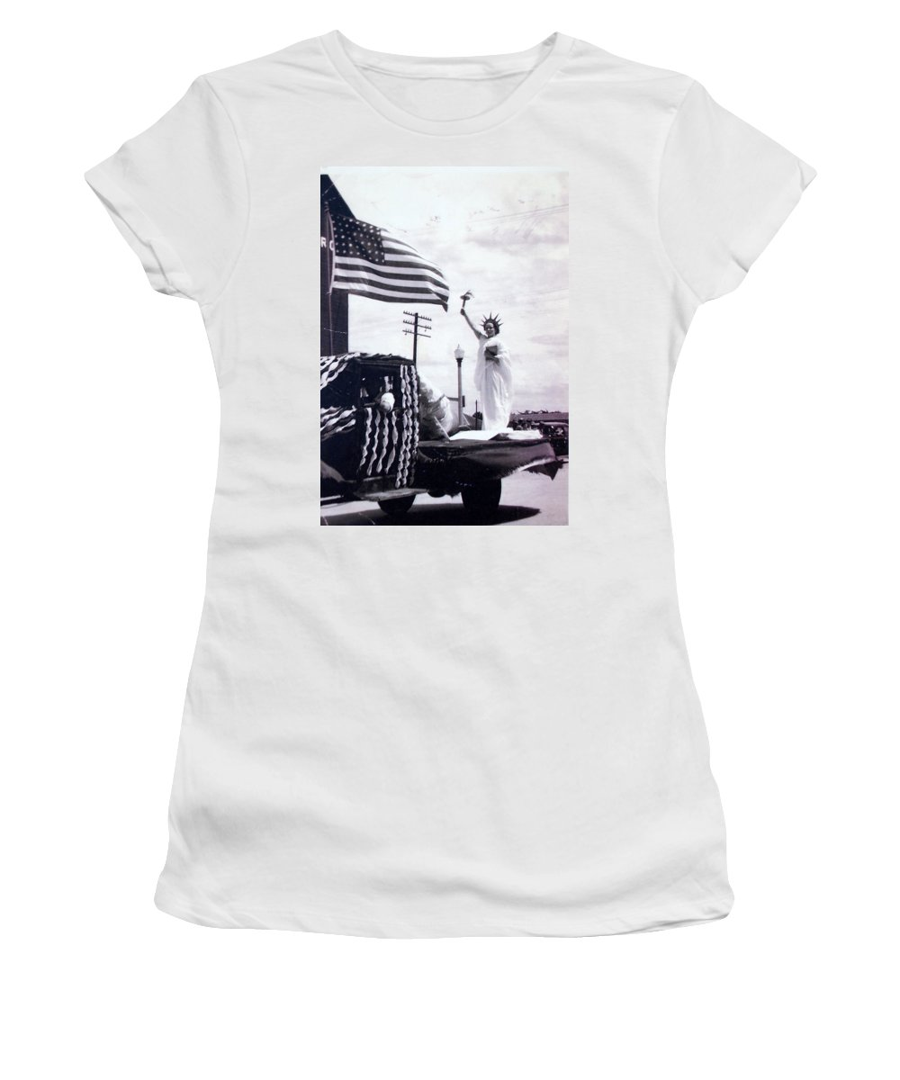 4th Of July Women's T-Shirt (Athletic Fit) featuring the photograph Lady Liberty by Kurt Hausmann